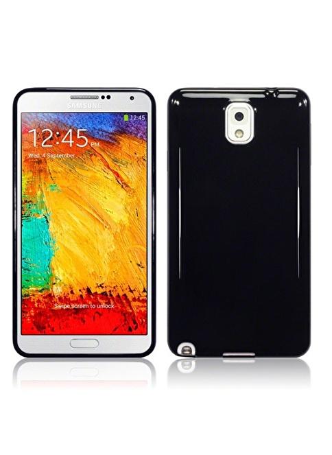Microsonic Glossy Soft Kılıf Galaxy Note 3 N9000 Siyah Renkli